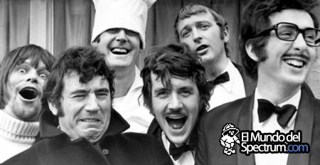 <I> Monty Python. De izquierda a derecha: Terry Gilliam,Terry Jones, John Cleese , Michael Palin, Graham Chapman y Eric Idle. </I>' title='<I> Monty Python. De izquierda a derecha: Terry Gilliam,Terry Jones, John Cleese , Michael Palin, Graham Chapman y Eric Idle. </I>' border='0' /></P><P class=