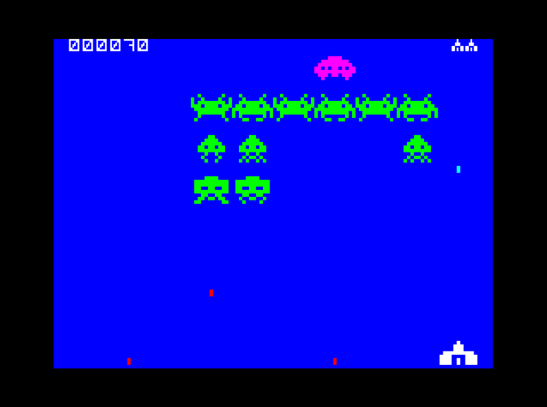 Speccy Invaders Gameplay